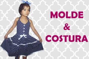 a1590bf0a Como Fazer Vestido Retrô Rodado Infantil | Aula de Artesanato #63 Com Molde